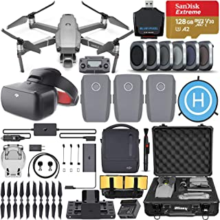 DJI Mavic 2 Pro Drone Quadcopter Hasselblad Camera Ultimate Bundle with Fly More Combo, DJI Racing goggles, 6 Piece Filter Kit, SanDisk Extreme 128gb Memory Card, Aluminum Shock Proof Case, Landing Pa