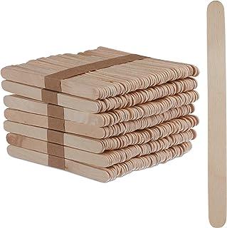 Relaxdays IJsstokjes van hout, 500 stuks, houten stokjes, knutselen, bakken, DIY ijslolly's, hxb: 11,5 x 1 cm, natuur, ver...
