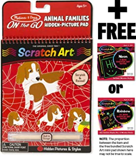 94184 Melissa /& Doug Favorite Things Hidden Picture FREE Scratch Art Mini-Pad Bundle On-the-Go Crafts Book