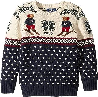 Polo Boys Ski Bear Snowflake Intarsia Merino Sweater (7)