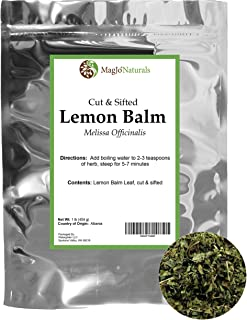 Lemon Balm Tea (Bulk Herbal Tea): Bulk Lemon Balm Leaf (Melissa Officinalis Caffeine Free) - Herbal Balm, Bulk Balm Leaf (...