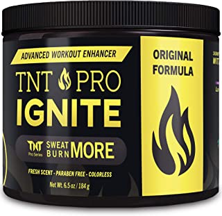 Fat Burning Cream for Belly – TNT Pro Ignite Sweat Cream for Men and Women – Thermogenic Weight Loss Workout Slimming Workout Enhancer (6.5 oz Jar)