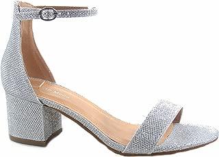 Darcie-1 Women's Fashion Ankle Strap Chunky Low Heel Dress Sandal Shoes
