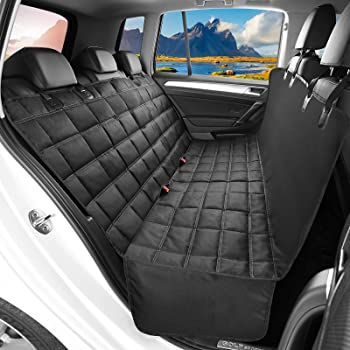 OKMEE Dog Car Seat Cover, Nonslip Scratchproof Dog Hammock, 600D Oxford Fabric Pet Seat Cover Easy to Install & Remove Bench Dog Seat Cover Protector for Most Cars Trucks SUVs