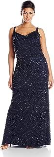 Women's Plus-Size Long Beaded Gown
