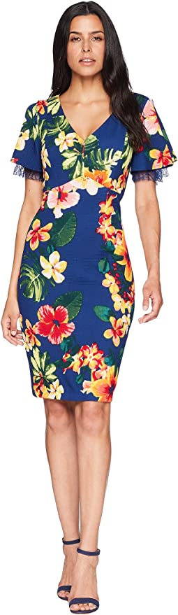 Tropical Short Sleeve Dress