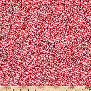 FreeSpirit Silk Road Scales Scarlet Fabric by the Yard