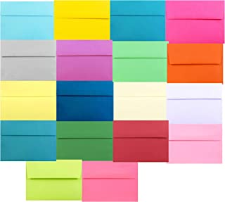Assorted Multi Color 50 Boxed A1 (3-5/8 x 5-1/8) Envelopes for (3-3/8 x 4-7/8) Mini Cards Response Enclosures Thank You Gr...