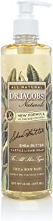 DR.JACOBS NATURALS Pure Castile Liquid Soap - Natural Face and Body Wash 16 oz. (Shea Butter)