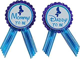 Daddy to Be & Mommy Pin Mermaid Baby Shower Pin to wear at Baby Shower, Purple & Turquoise Pin, It's a Girl, Baby Sprinkle