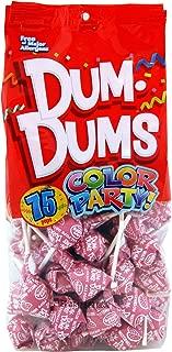 Dum Dums Color Party Lollipops, Hot Pink, Watermelon Flavor, 12.8 Ounce, 75 Count Bag