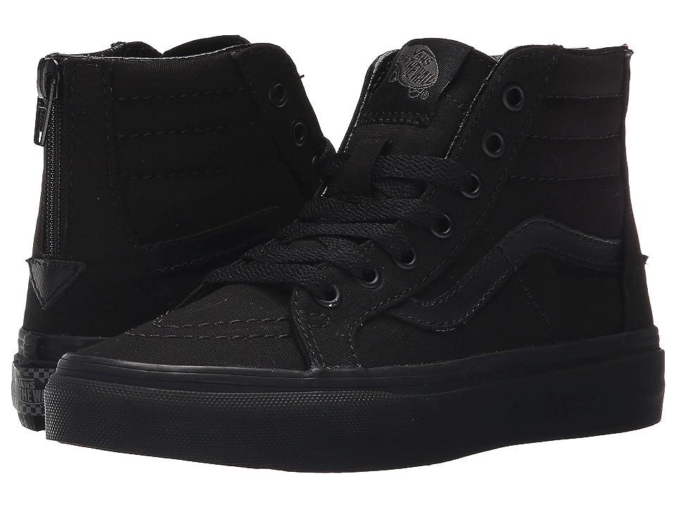 Vans Kids Sk8-Hi Zip (Little Kid/Big Kid) ((Pop Check) Black/Black) Boys Shoes