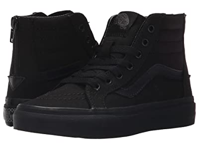 Vans Kids Sk8-Hi Zip (Little Kid/Big Kid) ((Pop Check) Black/Black) Boys Shoes