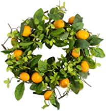 "DII Decorative Seasonal Wreath Spring/Summer, Front Door or Indoor Wall Décor, 22""Diameter, Lemons"