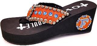 2af3a6efb662f3 Gypsy Soule Florida Gators Heel with Concho and Swarovski Crystals Blue