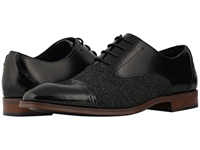 Stacy Adams Barrington Cap Toe Lace Up Oxford (Black) Men