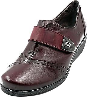 3de972a9 Zapato mujer Dorking-Fluchos - Piel color burdeos, cierre velcro - F0020 -  80