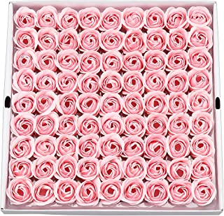 81PCS Soap Rose Flower - Flora Scented Soap Rose Flower - Plant Essential Oil Soap, Gift for Anniversary/Birthday/Wedding/Valentine's Day Box