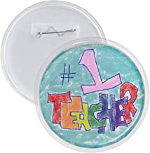 Neil Enterprises Snapins Acrylic Snap Together Round Children Craft Button, 3 Inches, Pack of 12