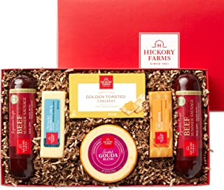 Hickory Farms Beef Summer Sausage & Cheese Medium Gift Box | Gourmet Food Gift Basket, Perfect For Birthday, Congratulatio...