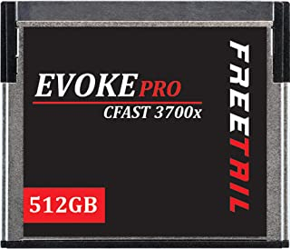 FreeTail Evoke Pro 512GB CFast 2.0 Card Speeds up to 560MB/s, VPG 130 Made for Canon, Blackmagic Design, Hasselblad, and P...