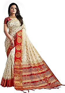 Nirja Creation silk with blouse piece Saree