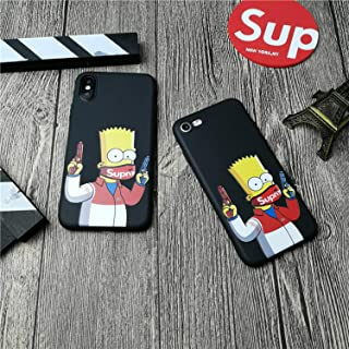 Supremely Gangster Bart Simpson iPhone Case for iPhone X XS MAX XR 10 8 7 6 6S Plus - Street Fashion Basic Protective Phone-Cover (for iPhone X)