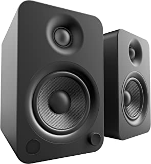 Kanto YU4 Powered Bookshelf Speakers with Bluetooth® and Phono Preamp (Matte Black)