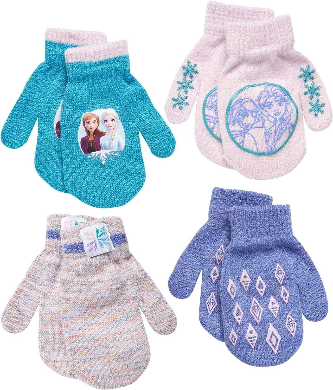 Disney Frozen Girls 4 Pack Gloves or Mittens (Toddler/Little Girls)
