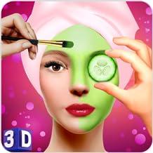 Face Makeup & Beauty Spa Salon Makeover Games 3D: face spa mask apply, spa tools makeup princess & makeover like Barbie, p...