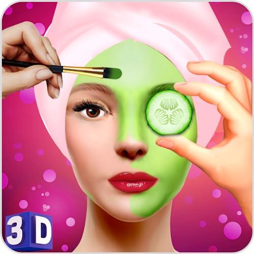 Face Makeup & Beauty Spa Salon Makeover Games 3D: face spa mask apply, spa tools makeup princess & makeover like Barbie, princess makeover salon for girly beautiful girls love spa makeup fashion & virtual beauty games, princess salon, Royal Makeover