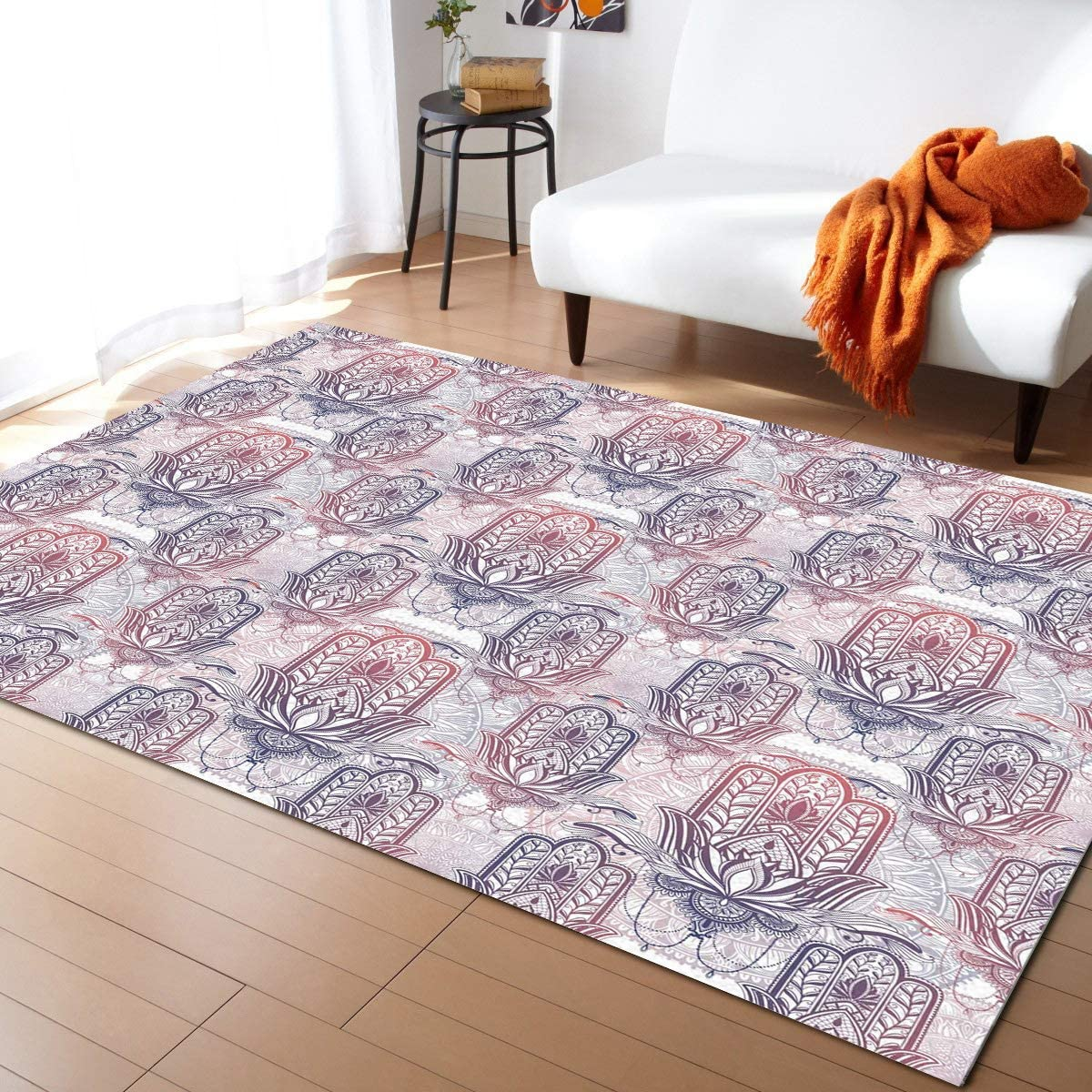 Caffling Modern Area Rugs for Living Feet Room Man Soldering Chicago Mall Colorful 3x5