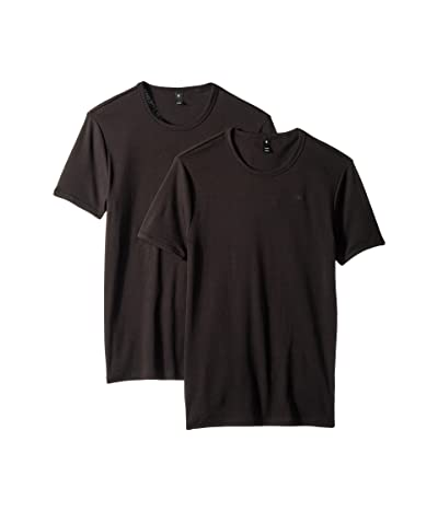 G-Star Base Round Neck Short Sleeve 2-Pack T-Shirt (Black) Men