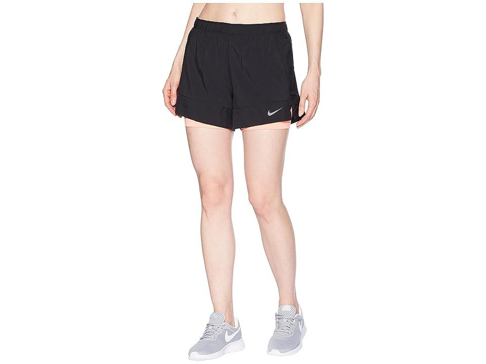 Nike Flex 2-in-1 Short (Black/Light Atomic Pink/Gunsmoke) Women