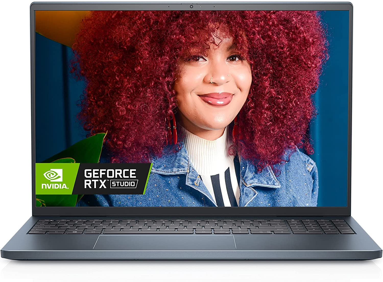 Dell Inspiron 16 7610, 16 inch 16:10 3K Non-Touch Laptop - Intel Core i7-11800H, 16GB DDR4 RAM, 512GB SSD, NVIDIA GeForce RTX 3050 4GB GDDR6, Windows 10 Pro - Mist Blue (Latest Model)