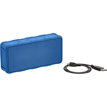 AmazonBasics Portable Outdoor IPX5 Waterproof Bluetooth Speaker - Blue, 5W