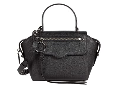 Rebecca Minkoff Gabby Small Satchel (Black) Handbags