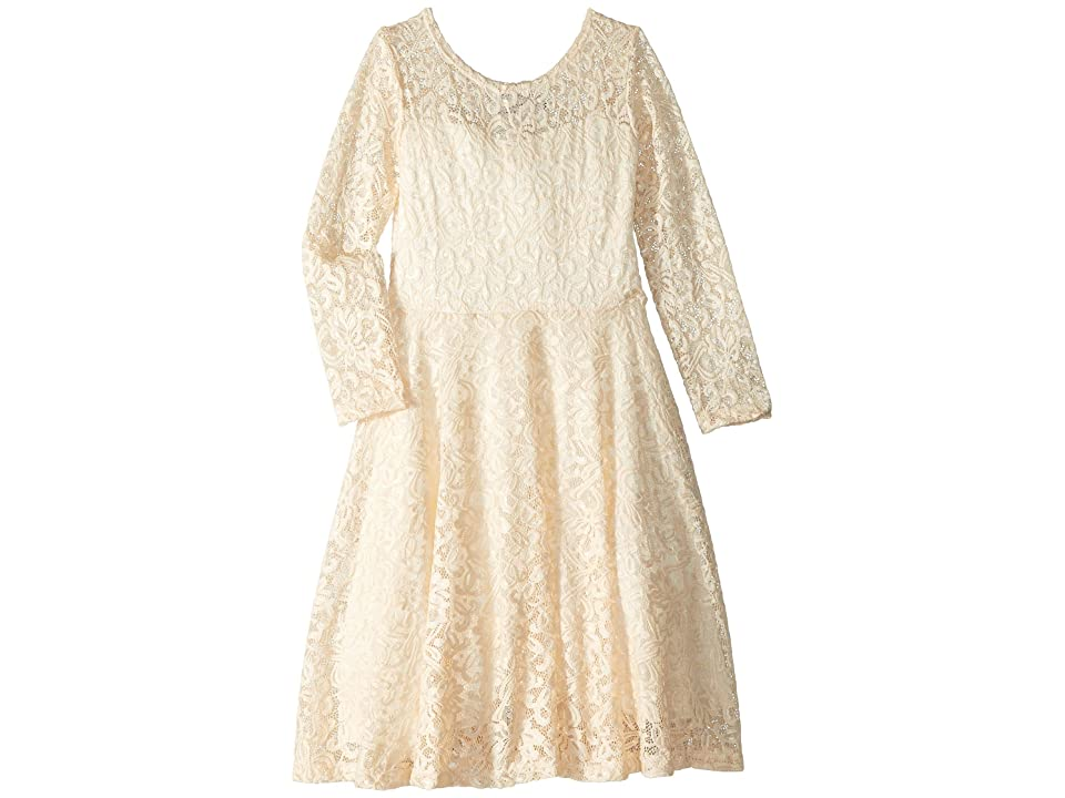 fiveloaves twofish Aurora Long Sleeve Skater Dress (Little Kids/Big Kids) (Ivory) Girl