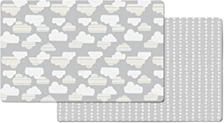 Skip Hop Cloud/Mini Dot Reversible Waterproof Foam Baby Play Mat, Grey, 86