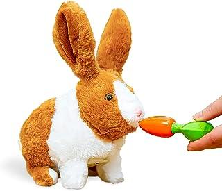 Think Gizmos Interactive Electronic Pet Rabbit Toy for Boys & Girls Aged 3 4 5 6 7 8 – Electronic Pet Toy Rabbit with Soun...