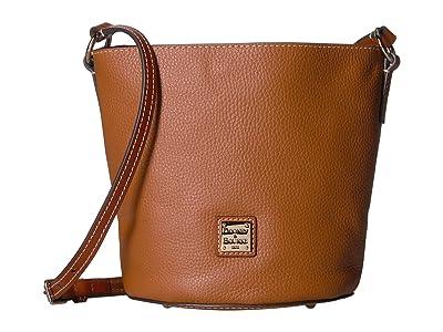 Dooney & Bourke Pebble Small Thea Crossbody (Caramel/Tan Trim) Cross Body Handbags
