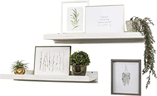 Del Hutson Designs Rustic Luxe Wooden Floating Shelves (White)