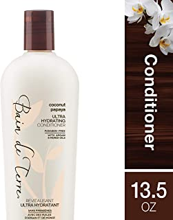 Bain de Terre Coconut Papaya Ultra Hydrating Conditioner, with Argan and Monoi Oil, Paraben-Free, 13.5-Ounce