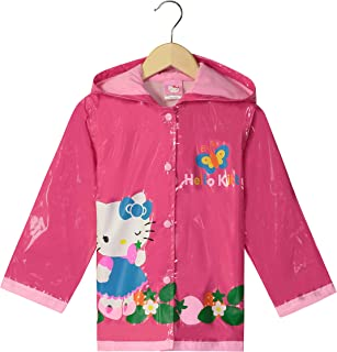adc838125 SANRIO Hello Kitty Little Girls' Waterproof Outwear Hooded Rain Coat -  Toddler