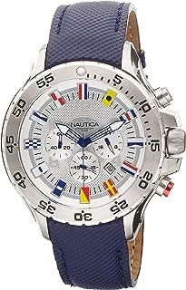 Men's N16530G NST Chronograph Blue Polyurethane Watch