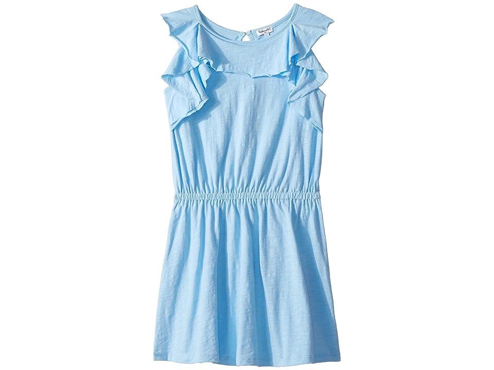 Splendid Littles Flounce Dress (Big Kids) (Blue Bell) Girl