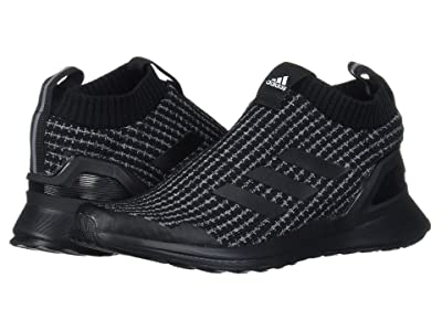 adidas Kids RapidaRun LL Knit (Little Kid) (Black/White) Kids Shoes