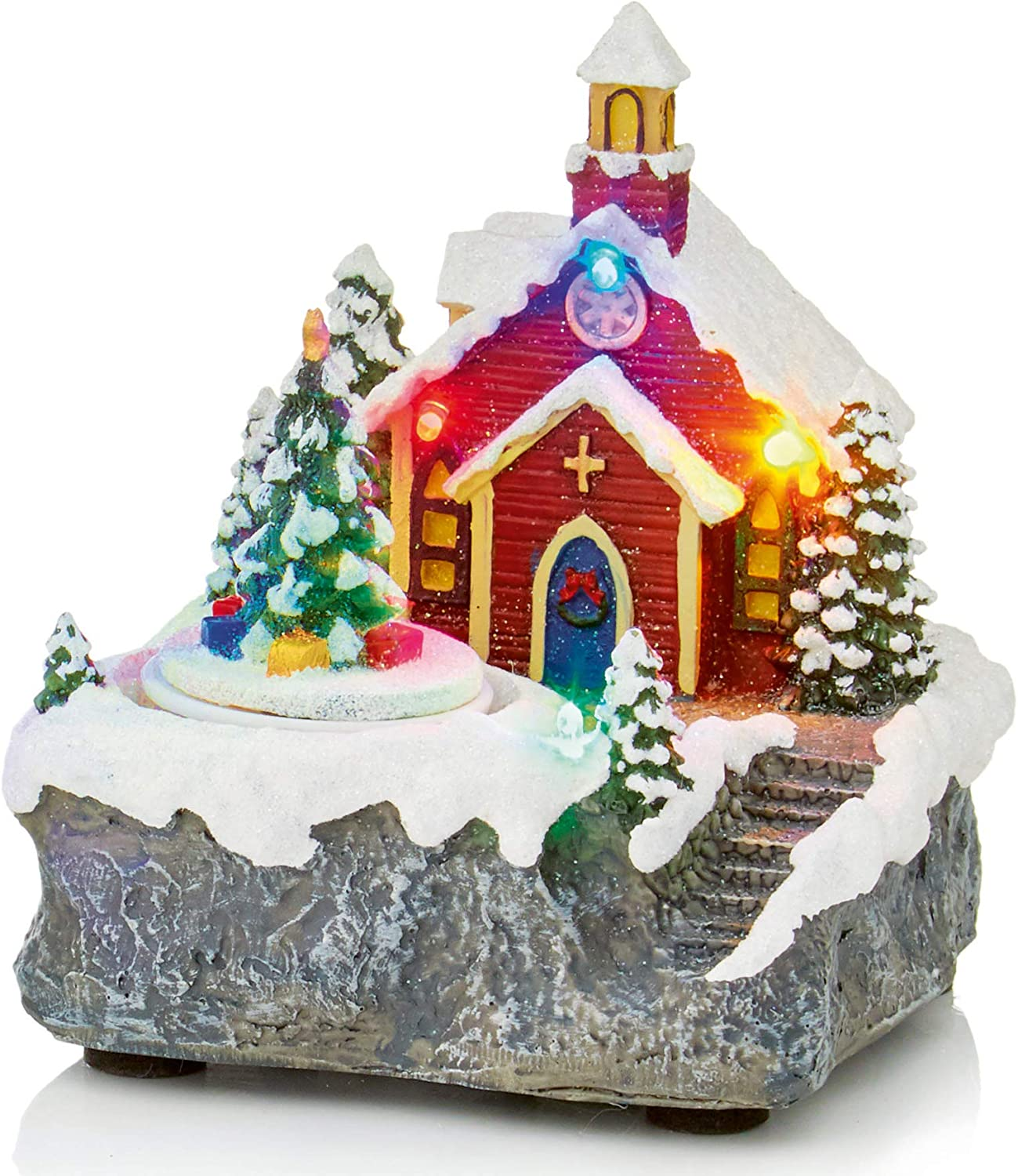 Widdle Celebrations Christmas 14cm Battery Vill Low price Operated Limited time sale LED Lit