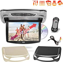 Car Roof Mount DVD Player Monitor 13.3 inch Vehicle Flip Down Overhead Screen- HDMI SD..