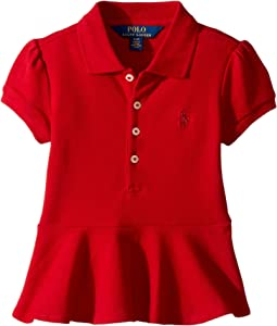 Polo Ralph Lauren Kids - Cotton Peplum Polo Shirt (Toddler)